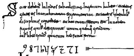 Codex Vigilanus Primeros Numeros Arabigos