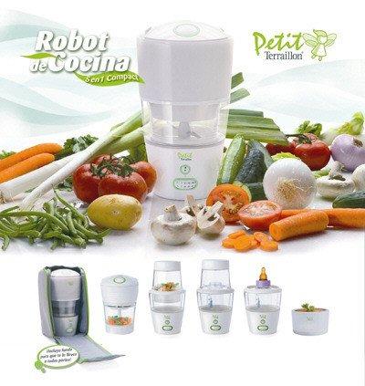 Robot de cocina 5 en 1 compact para la comida del beb for Robot de cocina la razon