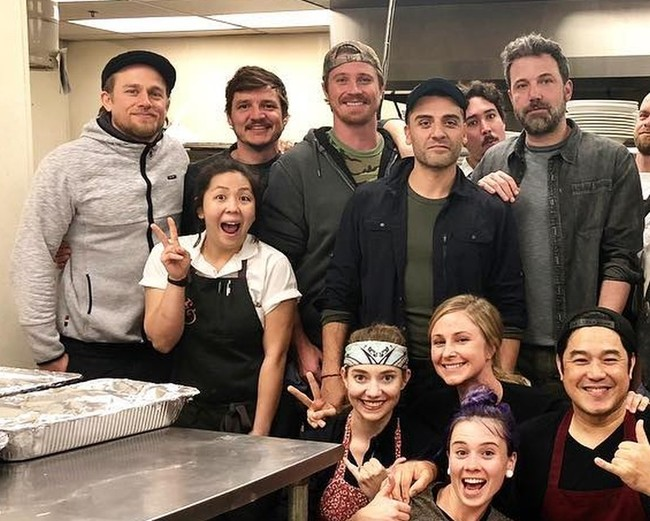 Charlie Hunnam, Pedro Pascal, Garrett Hedlund, Oscar Isaac y Ben Affleck
