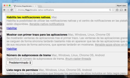 Chrome Notificaciones Mac