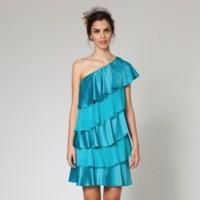 vestido azul volantes poete