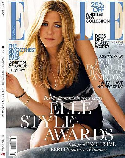 Jennifer Aniston para Elle UK abril 2009