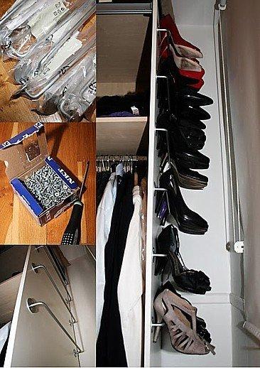 Una buena manera de almacenar zapatos de tacón alto