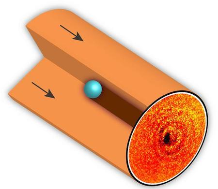 La primera fotografía de la sombra de un átomo