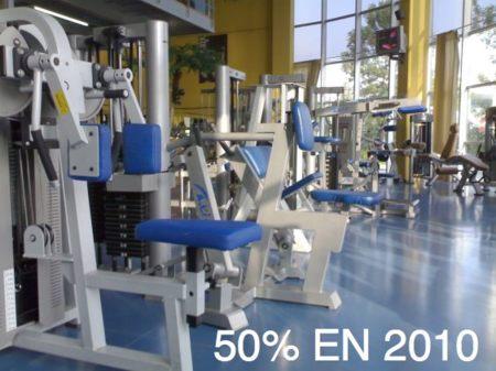 En 2010 el gimnasio costará la mitad de precio