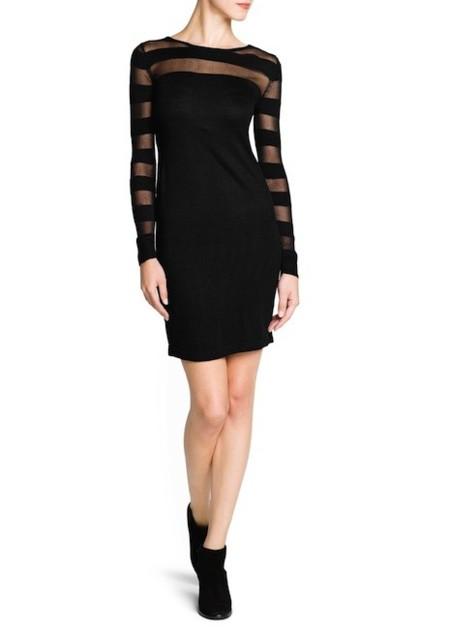 mango vestido negro transparencias