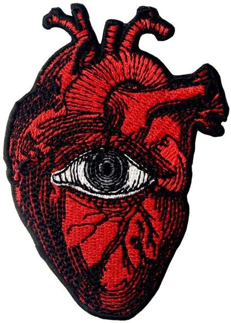 Parche Termoadhesivo Para La Ropa Diseno De Todo Ojo Que Ve En El Corazon Parche termoadhesivo para la ropa, diseño de Todo ojo que ve en el corazón