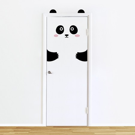 Pepi The Panda Door Decal Sticker