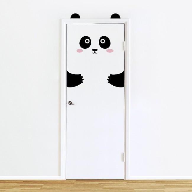 Pepi The Panda Door Decal Sticker