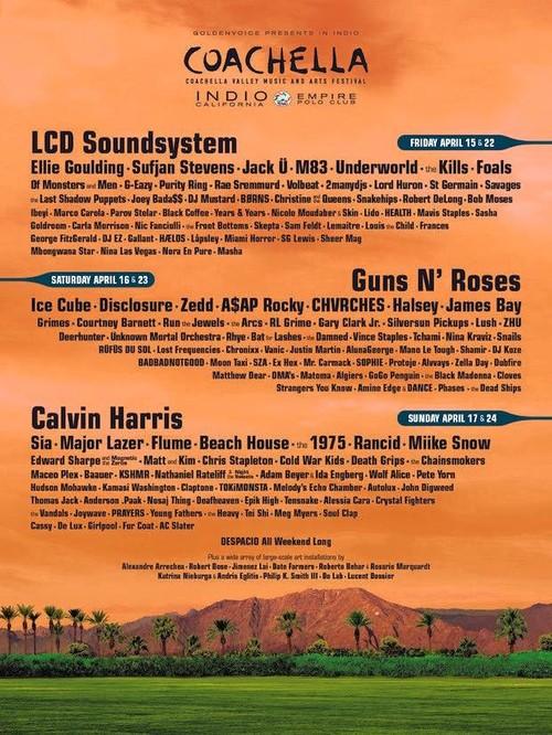 Los Reyes Magos se han adelantado y nos traen el cartel de Coachella 2016