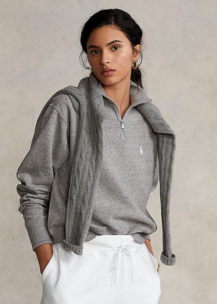 Jersey de felpa con cremallera corta