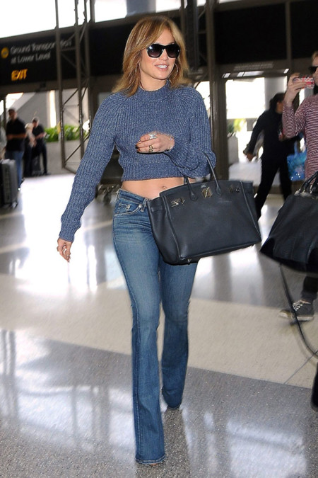 Jennifer Lopez Crop Top Look