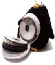 Pingüino porta CD