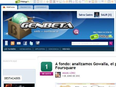 Nuevas pestañas en Genbeta para contenidos y votaciones en Facebook