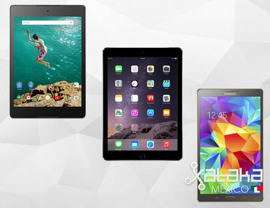 iPad Air 2, Nexus 9 y Galaxy Tab S 8.4, frente a frente