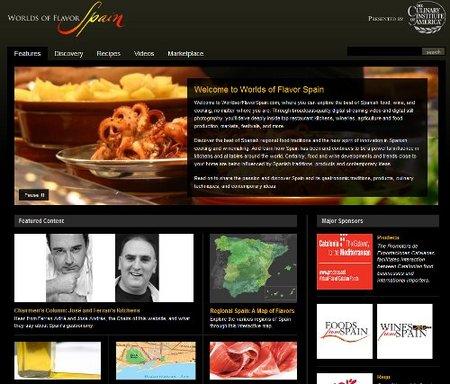 Una nueva web para difundir la gastronomía española