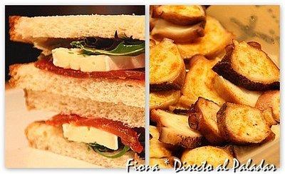 Comida para llevar: ensalada de pulpo con patatas, y sándwich de mojama y brie