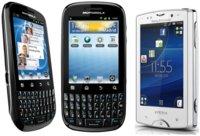 Motorola Fire y Sony Ericsson Xperia Mini Pro: dos Android con teclado físico QWERTY en Movistar desde 0 euros