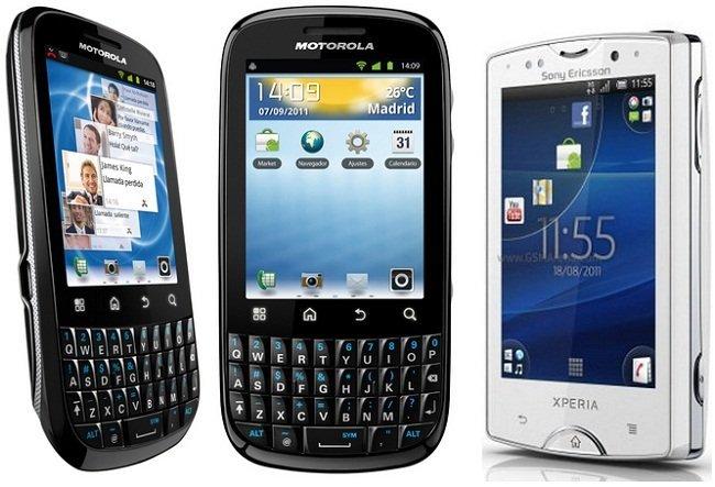 Precios Motorola Fire y XPERIA mini Pro con Movistar