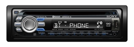 Radio-CD Sony MEX-BT3600U con USB y Bluetooth