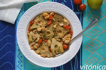 Alcachofas con bacalao: receta saludable de Cuaresma y Semana Santa