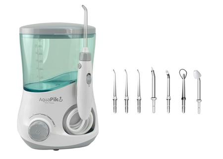En Amazon el irrigador dental y nasal Aquapik 100 de Oraltek con 7 boquillas cuesta sólo 49,90 euros con envío gratis