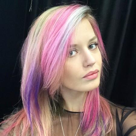 Georgia May Jagger Rainbow Hair