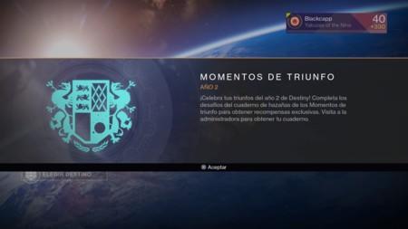 Momentos De Triunfo Ano 2 Destiny 3