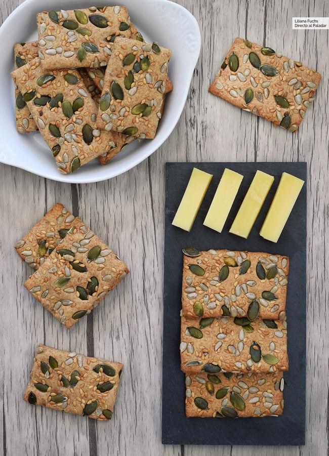 Crackers de espelta saludables y saciantes