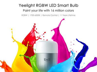 Bombilla Wi-Fi Xiaomi Yeelight RGBW por 14,64€ con este cupón de descuento