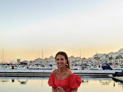 Paula Echevarría luce el look dos piezas de Mango más bonito de este verano