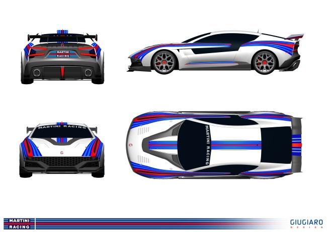 Giugiaro Brivido decoración Martini Racing