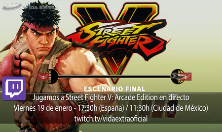 Streaming de Street Fighter V: Arcade Edition a las 17:30h (las 10:30h en Ciudad de México)
