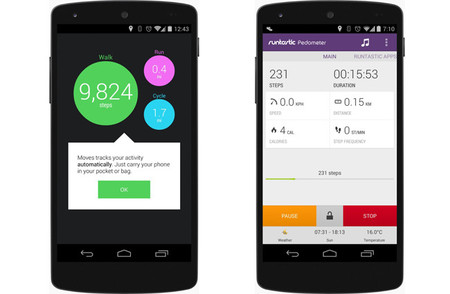 Android 4.4 KitKat detector y contador de pasos