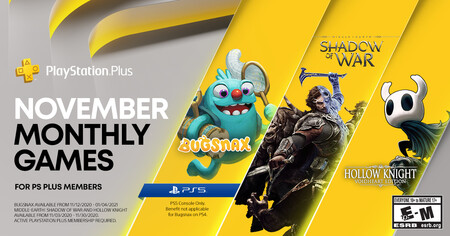 Bugsnax para PS5 y Hollow Knight: Voidheart Edition entre los juegos de PlayStation Plus de noviembre de 2020