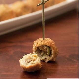 Olive all´ascolana o aceitunas rellenas a la escolana. Receta italiana