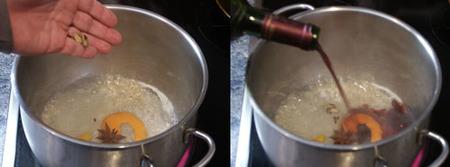 peras al vino tinto elaboración 1