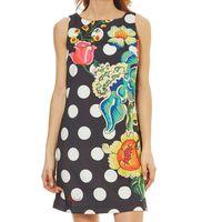 Este vestido de lunares con estampado floral de Desigual está por 48,90 euros en el Super Weekend de eBay