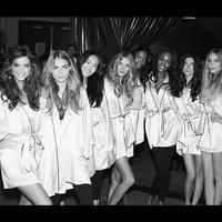 El backstage de las modelos de Victoria's Secret
