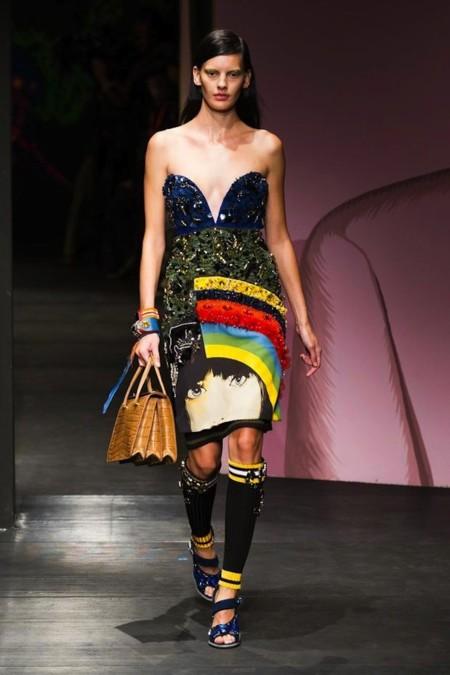 Prada vestido pop art met