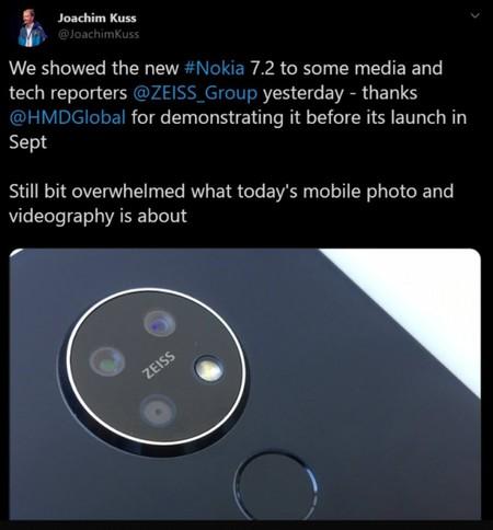 Nokia 7 2 Tres Camaras Zeiss Tweet