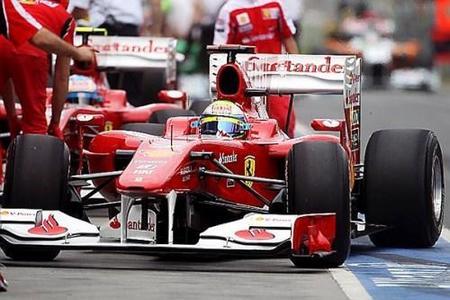 Felipe Massa estará justo detrás de Fernando Alonso en la parrilla de salida del GP de Australia