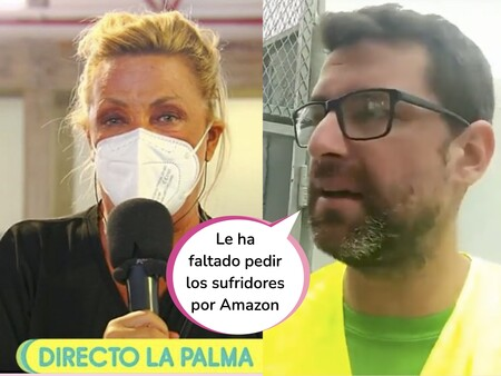 """Boicotean 'Sálvame' por este vídeo de un voluntario de la Palma que ha desatado la polémica con Lydia Lozano: """"Ha venido pidiendo gente que lo pase mal por el volcán"""""""