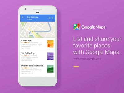 Google Maps para Android ahora te permite crear listas de lugares y compartirlas con tus amigos