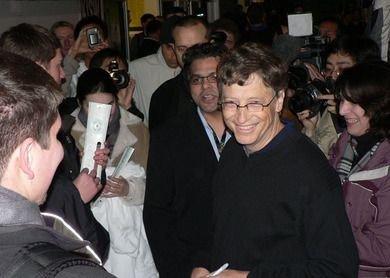 Bill Gates en el lanzamiento americano de la XBox 360