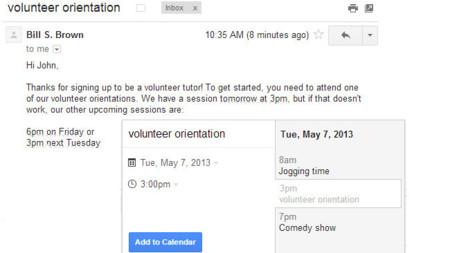 Google facilita la creación de eventos en el calendario desde Gmail