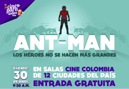 El 30 de abril llega Ant-Man a Cine Para Todos, el cine con inclusión