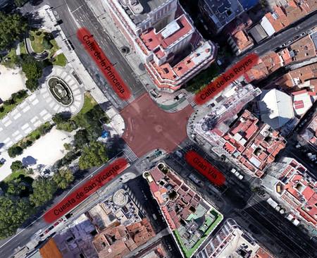 Madrid planea tener un enorme paso de peatones en diagonal a lo Shibuya en la Plaza de España