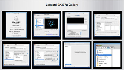 Capturas de la build 9a377 de Leopard