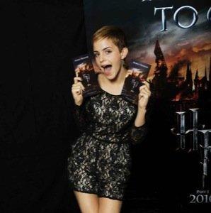Emma Watson promociona Harry Potter 7 con su nuevo corte de pelo corto